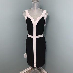 Joseph Ribkoff layered Dress black and white 12
